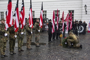 Day of Honour / nazi commemoration   Budapest  Hungary