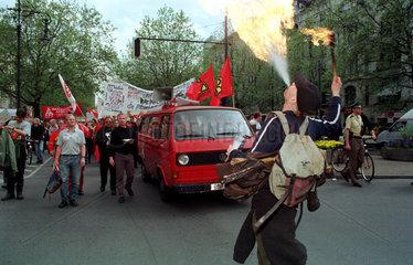 Demonstration gegen Arbeitslosigkeit in Berlin  Deutschland