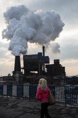 Polen  Bytom (Beuthen) - Emissionen der Kokerei Carbo-Koks