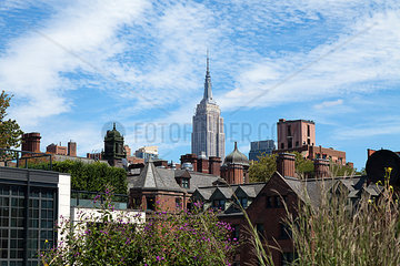 Empire State Building und Highline  Meatpacking District