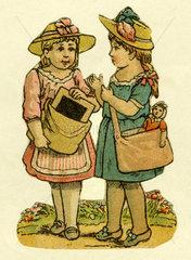 zwei Freundinnen  Illustration  1881