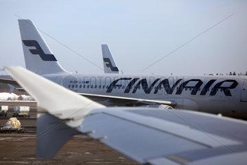 Vantaa  Finnland  Airbus A320 der Finnair am Helsinki Airport