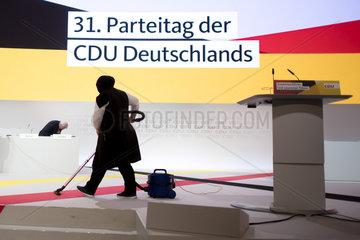 Putzfrau  CDU-Parteitag