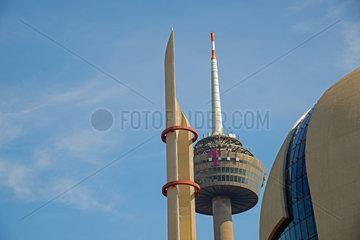Minarett der DITIB Zentralmoschee in Koeln