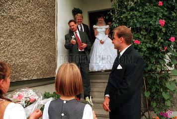 Polen  Hochzeitsgesellschaft in Oberschlesien