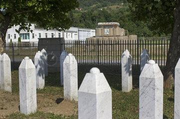 Gedenkstaette in Srebrenica