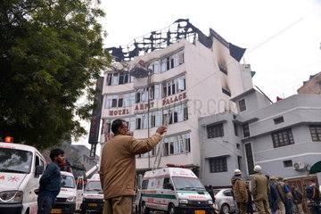 INDIA-NEW DELHI-HOTEL-FIRE