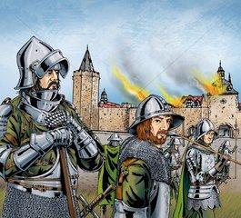 Brandschatzung - Serie Mittelalter