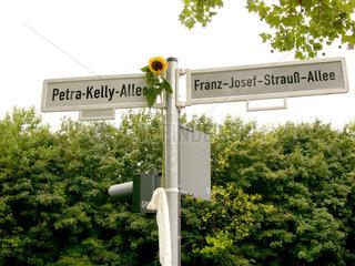 Einweihung der Petra-Kelly-Allee in Bonn