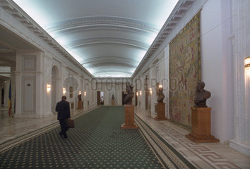Innenaufnahme im Parlamentspalast (Palatul Parlamentului) in Bukarest