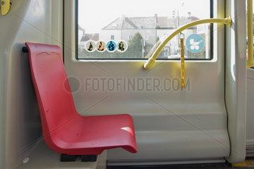 Reservierter Sitz in der Strassenbahn