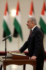 Midost-Ramallah-neue palästinensische Regierung - schwören in
