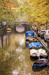 Amsterdam  Niederlande  stimmungsvolle Grachten
