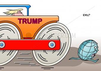 Dampfwalze USA Trump Erde
