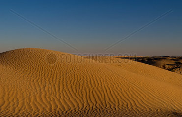 Ripples in sand in the Sahara desert in Douz in Tunisia Africa