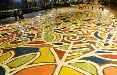 BANGLADESH-DHAKA-BENGALI-NEW-YEAR-GRAFFITI