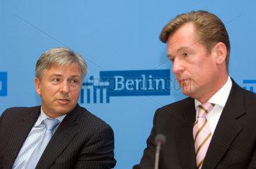 Mathias Oliver Christian Doepfner und Klaus Wowereit