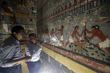 EGYPT-GIZA-PHARAONIC TOMB-DISCOVERY