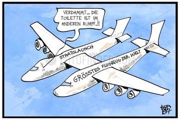 Roc Stratolaunch   das groesste Flugzeug der Welt
