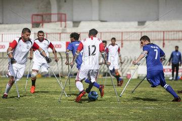 (SP)MIDEAST-GAZA-AMPUTEES-FOOTBALL-MATCH