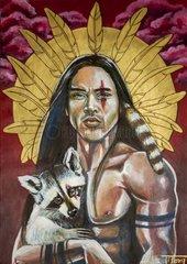 Native American - Serie goldener Kreis