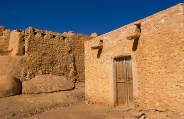 Old buildings Oasis Town of Chebika near Mides and Tamerza Tunisia in Africa