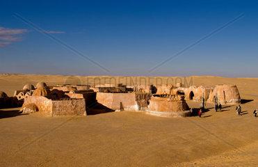 Famous movie set of Star Wars movies in Sahara Desert near Tozeur Tunisia Africa