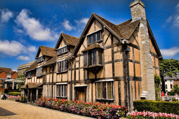 House of famous writer William Shakespeare in Stratford Upon Avon in the West Midlands Great Britian England