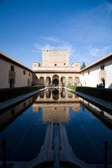 Granada  Spanien  Myrtenhof in der Alhambra
