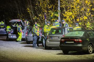 Polizeikontrolle im Bezirk Wandsbek