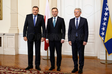 BOSNIA AND HERZEGOVINA-SARAJEVO-POLAND-PRESIDENT-VISIT