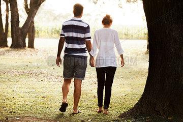 Couple enjoying outdoors together
