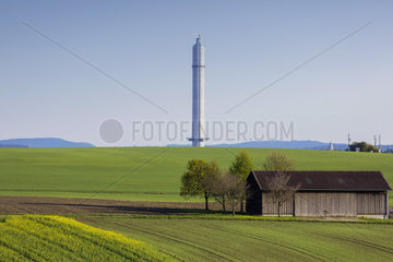ThyssenKrupp Elevator  Testturm fuer Aufzuege in Rottweil.