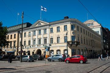 Helsinki  Finnland  Strassenszene im Stadtzentrum der Hauptstadt