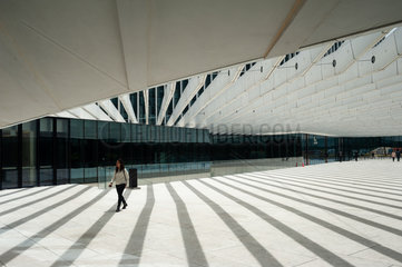 Lissabon  Portugal  Innenhof der EDP Firmenzentrale