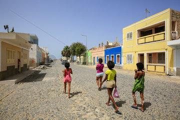 Stadtansicht  Strassenszene  Sal Rei  Boa Vista  Kapverden