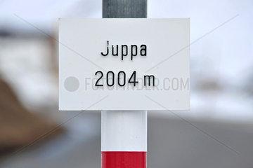 Avers  Schweiz  Hoehenmarke von Avers-Juppa