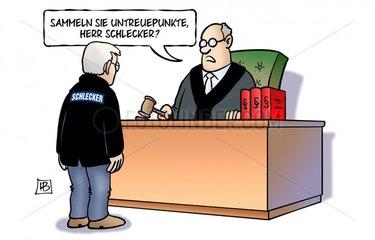 Schlecker vor Gericht