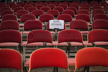Reservierter Sitzplatz