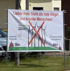 Suepplingen  Deutschland  Buergerprotest gegen Windkraftanlagen