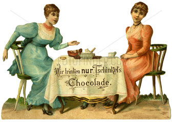 Werbung fuer Trinkschokolade  Wien  1880