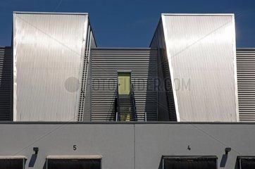 Moderne Lagerhalle im baden-wuerttembergischen Ulm