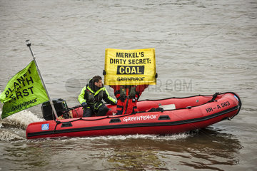 Greenpeace-Aktion fuer Kohleausstieg