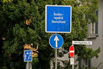 Deutsch-Schweizerische Grenze in Konstanz