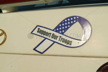 Autokennzeichen zur Unterstuetzung der Truppen im Irak