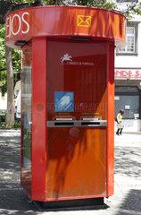 Madeira: Briefkasten der Portugiesischen Postgesellschaft CTT