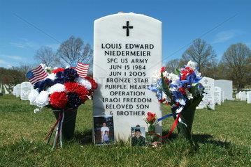 Soldatengrab in den USA