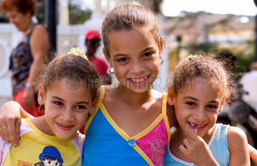 Children smiling and having fun in Cienfuegos Cuba