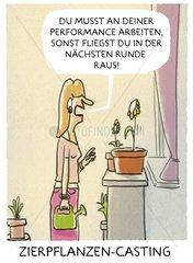 Zierpflanzen Casting