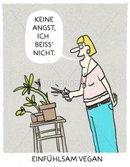 Vegane Pflanzenliebhaberin